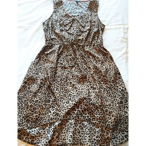 Be Bop Leopard PRnit Dress